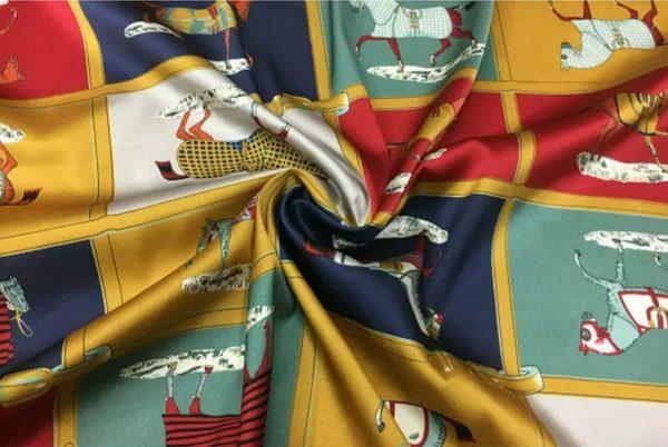 Hermes Silk Horse Print Design