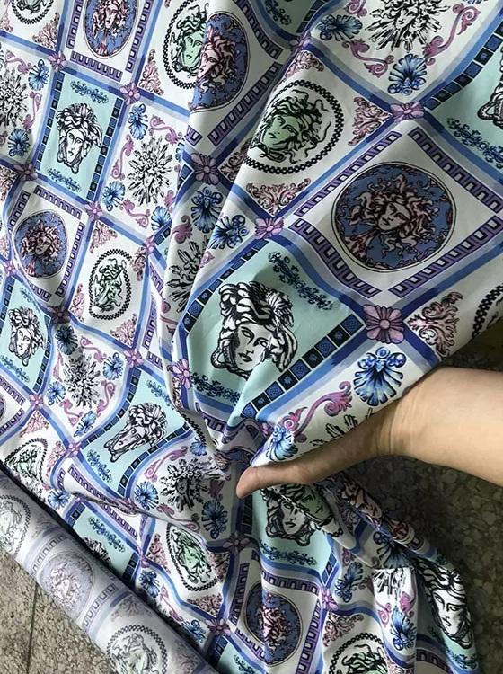 Versace Cotton Medusa Fabric