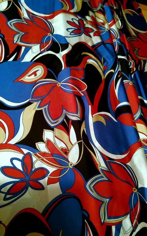 Emilio Pucci Silk Satin Crepe Fabric