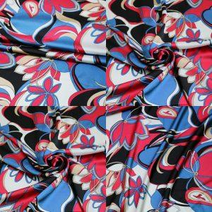 Emilio Pucci Silk Satin Crepe Fabric/Floral Design Tunic Fabric/Designer Italian Silk Charmeuse Satin Fabric #3