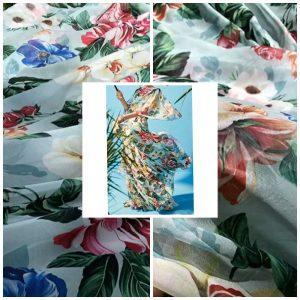 Gorgeous Silk Chiffon Fabric/Fashion week 2020 Silky Chiffon/Fashion Fabric
