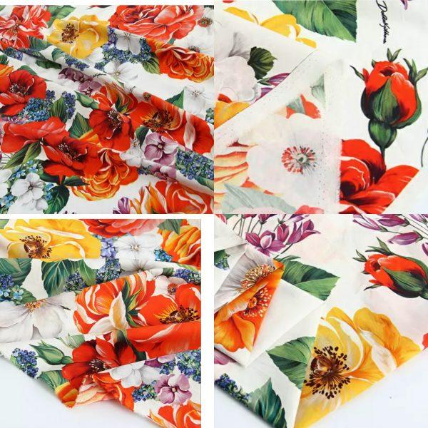 Dolce Gabbana Fashion Week Cotton Poplin
