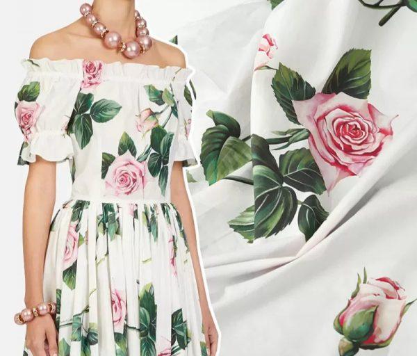 Dolce Gabbana Cotton fabric Roses pattern