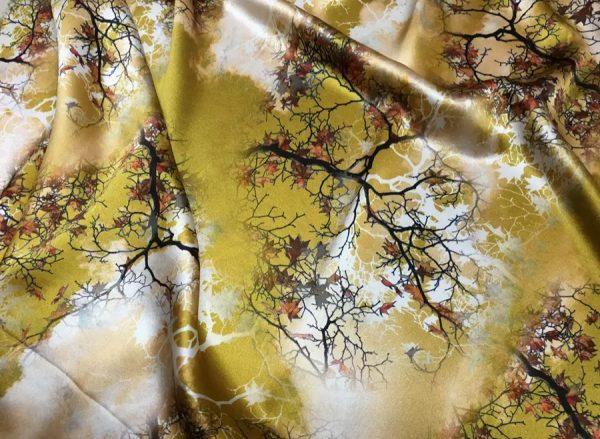 20200809 021526 Emanuel Ungaro Heavy Silk Fabric/New Collection 2021 Fashion week Ungaro Silk/Digital painting Italian silk fabric 12