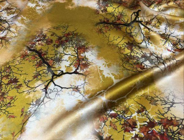 20200809 021640 Emanuel Ungaro Heavy Silk Fabric/New Collection 2021 Fashion week Ungaro Silk/Digital painting Italian silk fabric 5