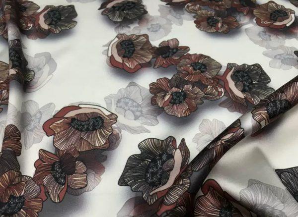 20200809 022748 Emanuel Ungaro Silk Stretch Fabric/New Collection Fashion Week Italian Designer Silk Fabric/Digital Inkjet silk 9