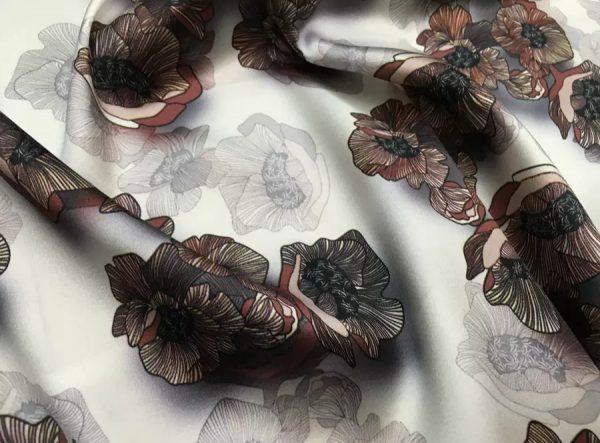 20200809 022816 Emanuel Ungaro Silk Stretch Fabric/New Collection Fashion Week Italian Designer Silk Fabric/Digital Inkjet silk 7