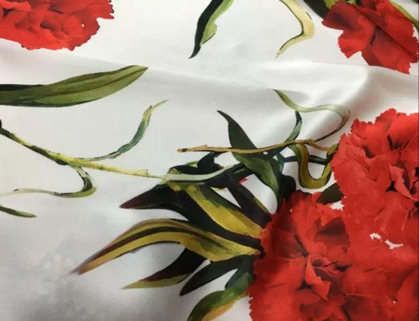 Emanuel Ungaro Silk Carnation Design