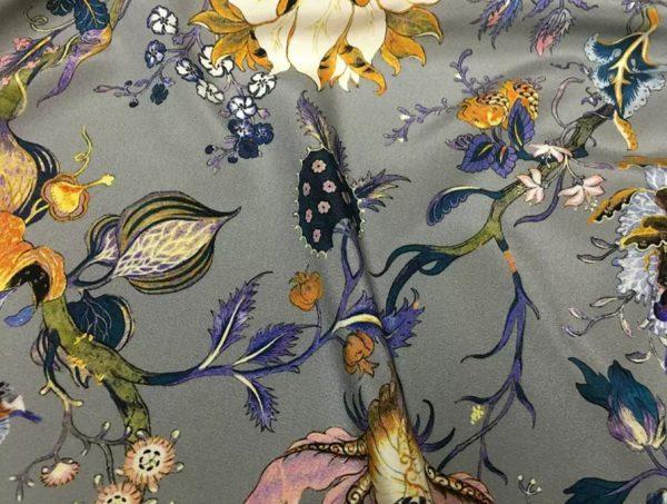 20200809 044020 Emanuel Ungaro Silk Stretch Fabric/New Collection Embroidery Effect Silk Fabric/Italian Designer fashion week fabric 1