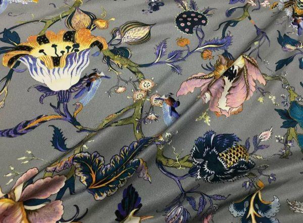 20200809 044029 Emanuel Ungaro Silk Stretch Fabric/New Collection Embroidery Effect Silk Fabric/Italian Designer fashion week fabric 6