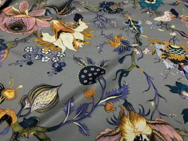 20200809 044123 Emanuel Ungaro Silk Stretch Fabric/New Collection Embroidery Effect Silk Fabric/Italian Designer fashion week fabric 2