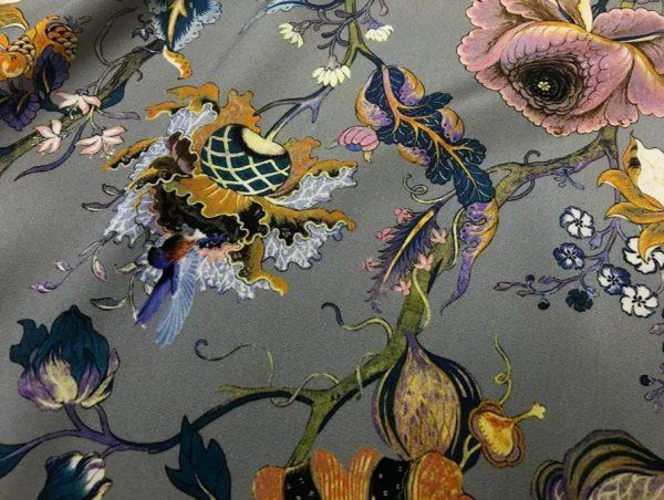 20200809 044142 Emanuel Ungaro Silk Stretch Fabric/New Collection Embroidery Effect Silk Fabric/Italian Designer fashion week fabric 3