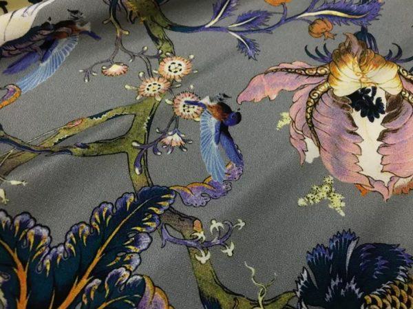 20200809 044152 Emanuel Ungaro Silk Stretch Fabric/New Collection Embroidery Effect Silk Fabric/Italian Designer fashion week fabric 5