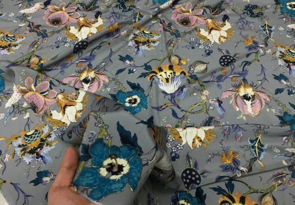 20200809 044204 Emanuel Ungaro Silk Stretch Fabric/New Collection Embroidery Effect Silk Fabric/Italian Designer fashion week fabric 4