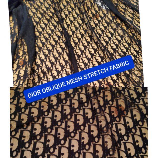 Dior Jersey Lace Logo stretch fabric