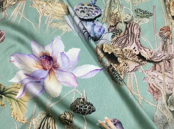 20200811 022800 Emanuel Ungaro Silk Fabric/Stretch silk floral ornament Lilies Pattern Digital inkjet technique New Collection silk 5