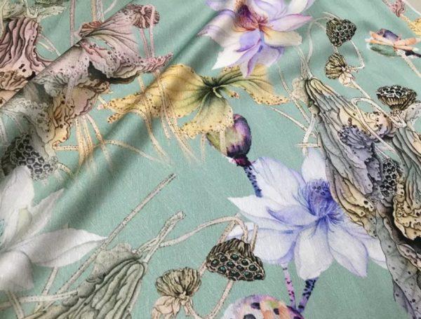 20200811 022914 Emanuel Ungaro Silk Fabric/Stretch silk floral ornament Lilies Pattern Digital inkjet technique New Collection silk 9