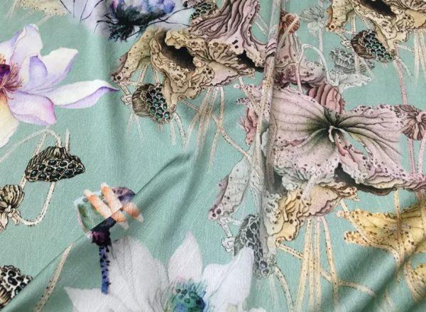 20200811 022954 Emanuel Ungaro Silk Fabric/Stretch silk floral ornament Lilies Pattern Digital inkjet technique New Collection silk 1