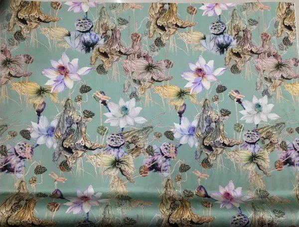 20200811 023014 Emanuel Ungaro Silk Fabric/Stretch silk floral ornament Lilies Pattern Digital inkjet technique New Collection silk 6