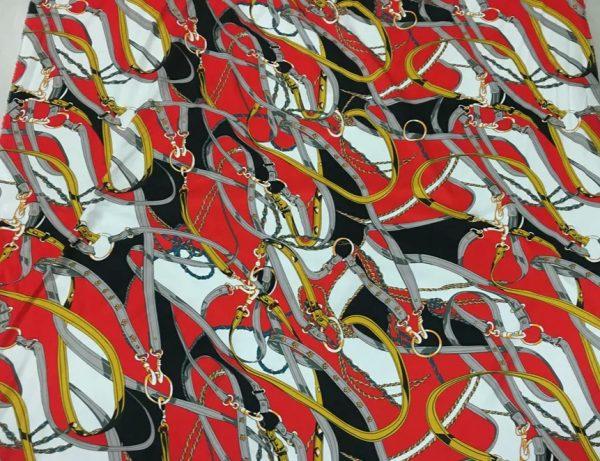 20200811 043032 Silk fabric classic pattern /New Collection chain belt print pattern fabric/Catwalk fabric digital inkjet technique beautiful silk 3