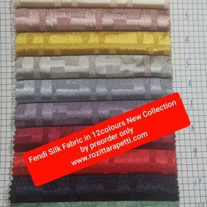New Collection FENDI Silk Fabric