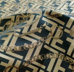 Fendi Fabric New Collection Gold yarn/Chain and gold logo brocade fabric