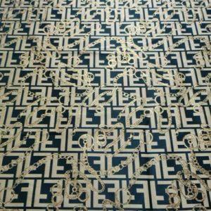 Fendi Fabric New Collection Gold yarn