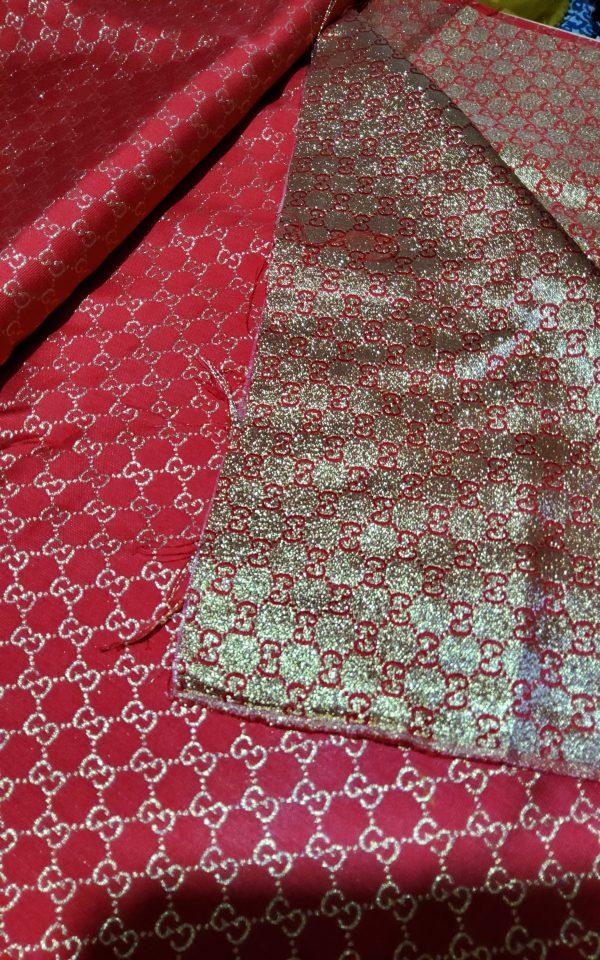 20200915 192522 scaled Gucci 2020 Fabric/Milan Fashion Show Gucci Spring/Gucci Gold yarn Fabric/Gucci blazer fabric,Gucci Suit, jacket fabric/Gucci Fabric New Collection colour #1 RED GOLD YARN 1