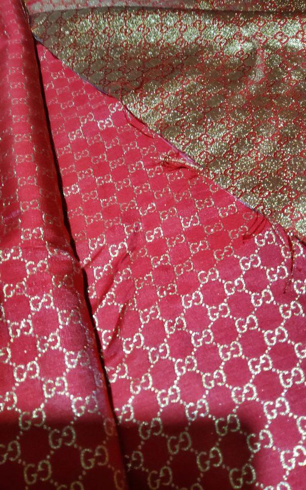 20200915 192530 scaled Gucci 2020 Fabric/Milan Fashion Show Gucci Spring/Gucci Gold yarn Fabric/Gucci blazer fabric,Gucci Suit, jacket fabric/Gucci Fabric New Collection colour #1 RED GOLD YARN 2