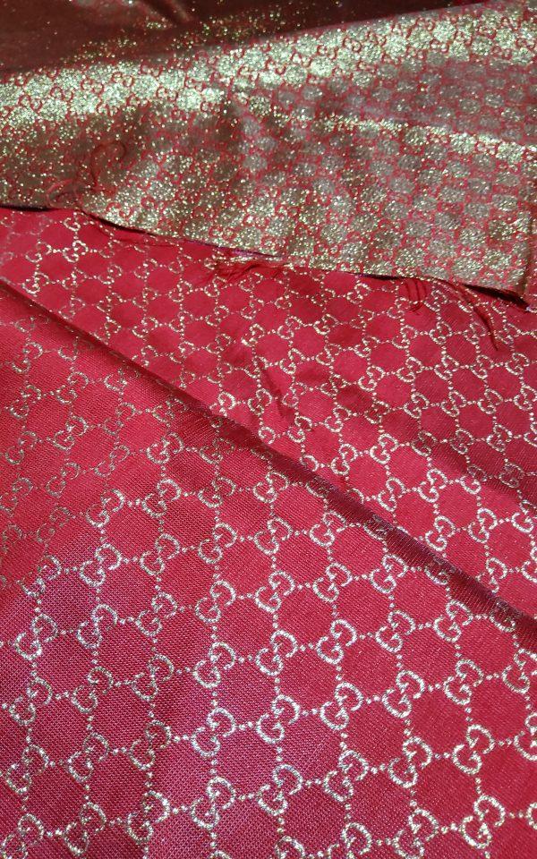 20200915 192536 scaled Gucci 2020 Fabric/Milan Fashion Show Gucci Spring/Gucci Gold yarn Fabric/Gucci blazer fabric,Gucci Suit, jacket fabric/Gucci Fabric New Collection colour #1 RED GOLD YARN 3