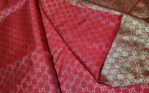 20200915 192550 scaled Gucci 2020 Fabric/Milan Fashion Show Gucci Spring/Gucci Gold yarn Fabric/Gucci blazer fabric,Gucci Suit, jacket fabric/Gucci Fabric New Collection colour #1 RED GOLD YARN 4