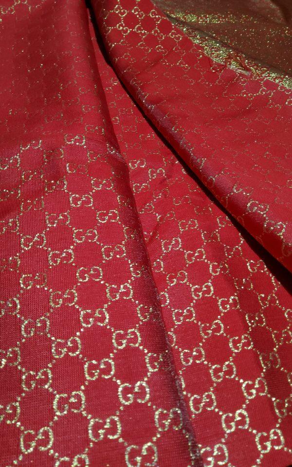 20200915 192607 scaled Gucci 2020 Fabric/Milan Fashion Show Gucci Spring/Gucci Gold yarn Fabric/Gucci blazer fabric,Gucci Suit, jacket fabric/Gucci Fabric New Collection colour #1 RED GOLD YARN 5