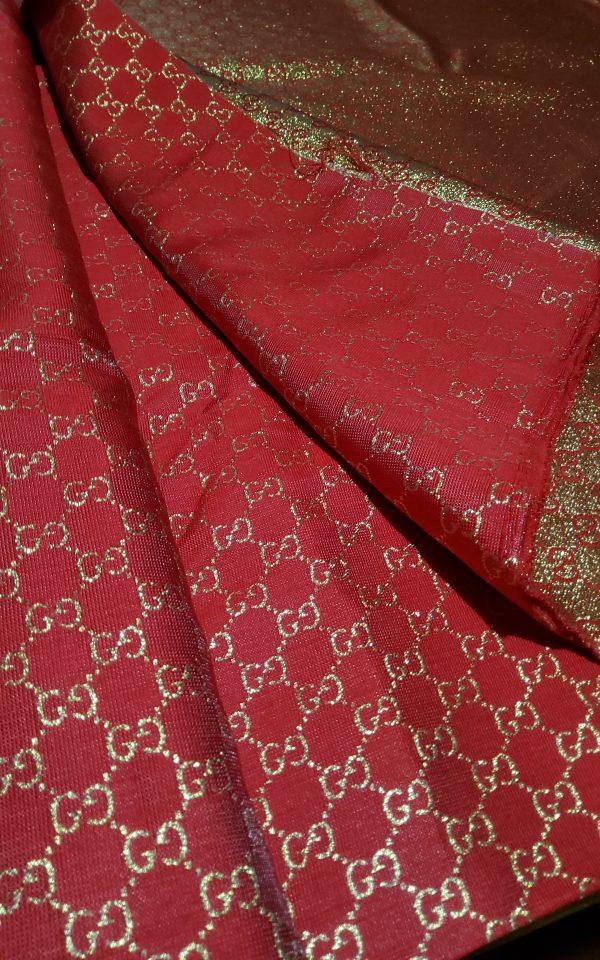 20200915 192611 scaled Gucci 2020 Fabric/Milan Fashion Show Gucci Spring/Gucci Gold yarn Fabric/Gucci blazer fabric,Gucci Suit, jacket fabric/Gucci Fabric New Collection colour #1 RED GOLD YARN 6