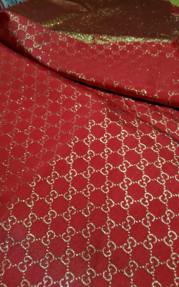 20200915 192618 scaled Gucci 2020 Fabric/Milan Fashion Show Gucci Spring/Gucci Gold yarn Fabric/Gucci blazer fabric,Gucci Suit, jacket fabric/Gucci Fabric New Collection colour #1 RED GOLD YARN 7