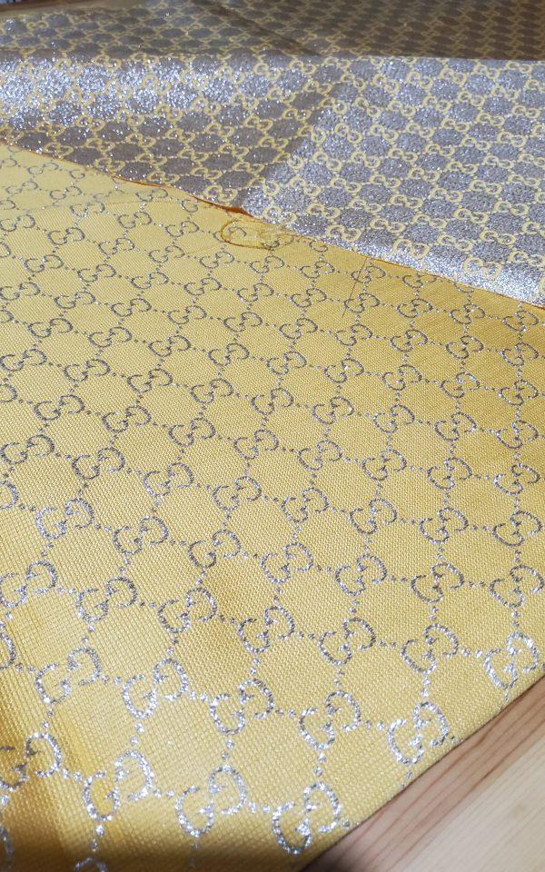 20200915 192813 scaled Gucci 2020 Fabric/Milan Fashion Show Gucci Spring/Gucci Gold yarn Fabric/Gucci blazer fabric,Gucci Suit,jacket fabric/Gucci Fabric New Collection colour #3 YELLOW GOLD YARN 6