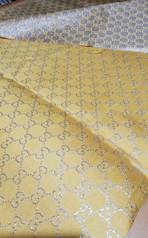Gucci 2020 Fabric/Milan Fashion Show Gucci Spring/Gucci Gold yarn Fabric/Gucci blazer fabric,Gucci Suit,jacket fabric/Gucci Fabric New Collection colour #3 YELLOW GOLD YARN 7 ⋆ Rozitta Rapetti