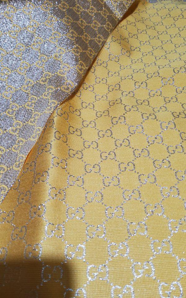 Gucci 2020 Fabric/Milan Fashion Show Gucci Spring/Gucci Gold yarn Fabric/Gucci blazer fabric,Gucci Suit,jacket fabric/Gucci Fabric New Collection colour #3 YELLOW GOLD YARN 10 ⋆ Rozitta Rapetti