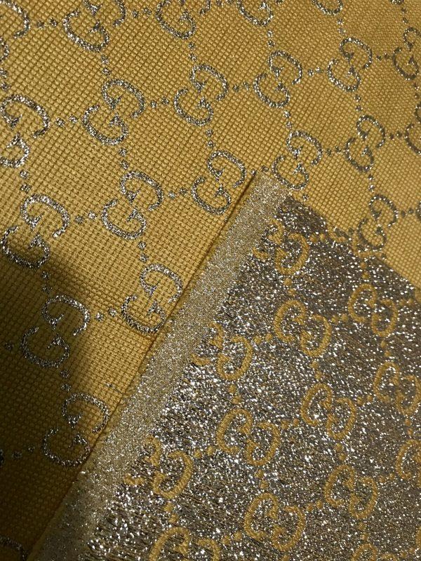 Gucci 2020 Fabric/Milan Fashion Show Gucci Spring/Gucci Gold yarn Fabric/Gucci blazer fabric,Gucci Suit,jacket fabric/Gucci Fabric New Collection colour #3 YELLOW GOLD YARN 4 ⋆ Rozitta Rapetti