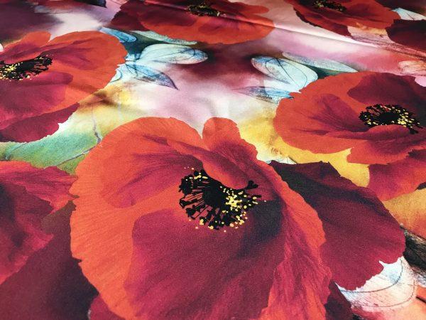 Emanuel Ungaro Silk Poppy design