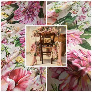 Italian chiffon fabric/Fashion week 2020 fabric/New Collection Italian Couture fabric