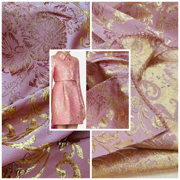 Dolce Gabbana jacquard Gold thread fabric