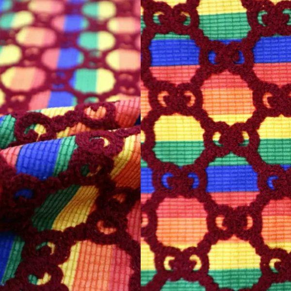 Gucci rainbow fabric