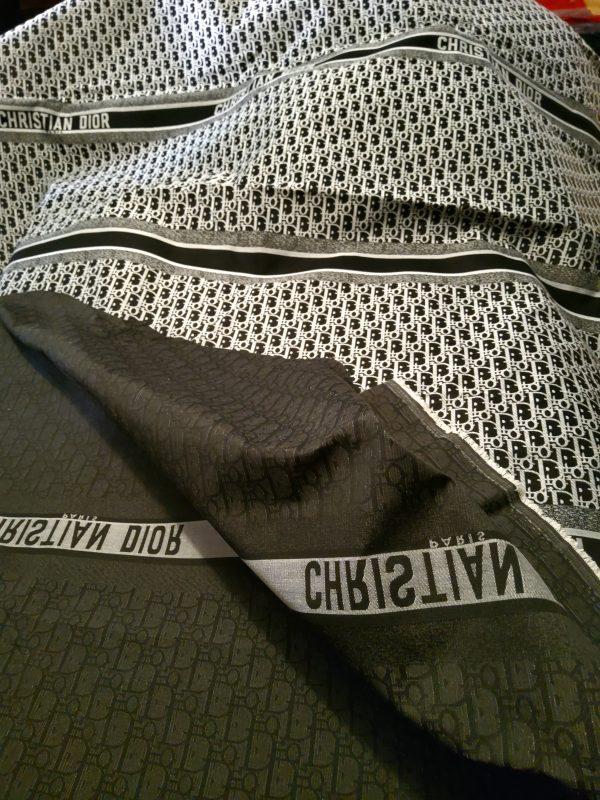 Christian Dior Oblique White Logo Black base
