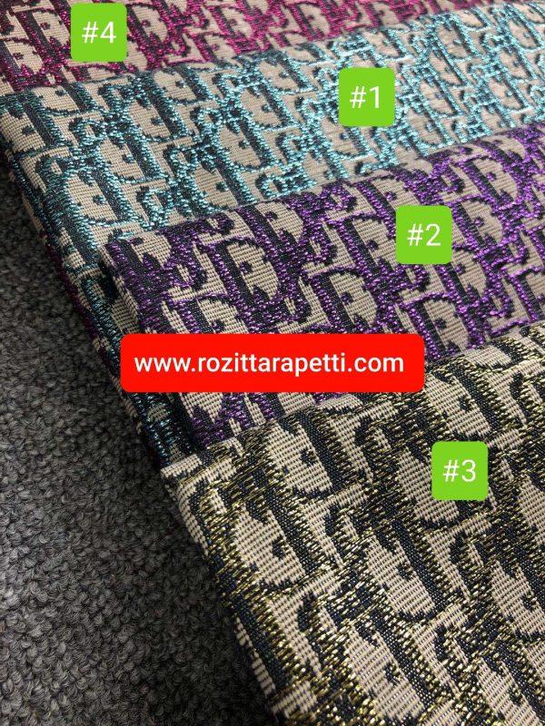 20200906 184908 Dior Oblique Very Stiff Jacquard Silver Yarn Shiny Raspberry Logo Fabric/New Collection Dior Fabric/Colour #4 1