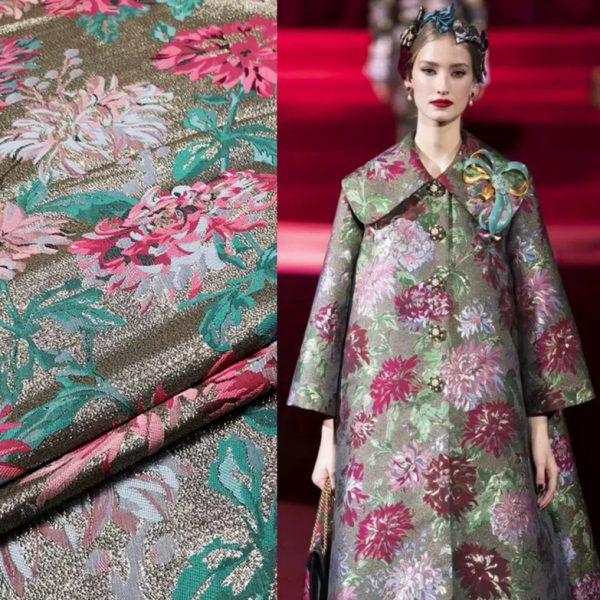 Dolce Gabbana Jacquard fabric gold yarn