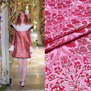 Dolce Gabbana Jacquard 2020 fabric gold yarn