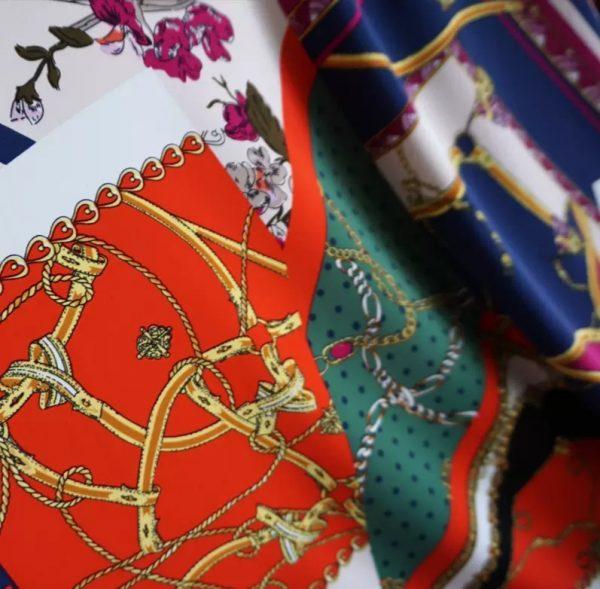 20200916 004905 Italian Silk Fabric Chain Print Pattern/2021 Collection Fashion week Silk Stretch Fabric/Limited Edition Italian fabric 1