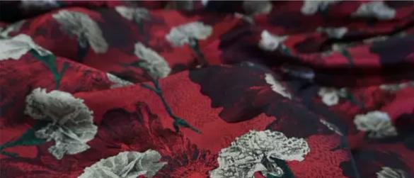 20200916 030829 Italian Designer Jacquard Fabric Carnation pattern Fashion week Jacquard 2021 1