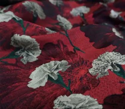 20200916 030904 Italian Designer Jacquard Fabric Carnation pattern Fashion week Jacquard 2021 2