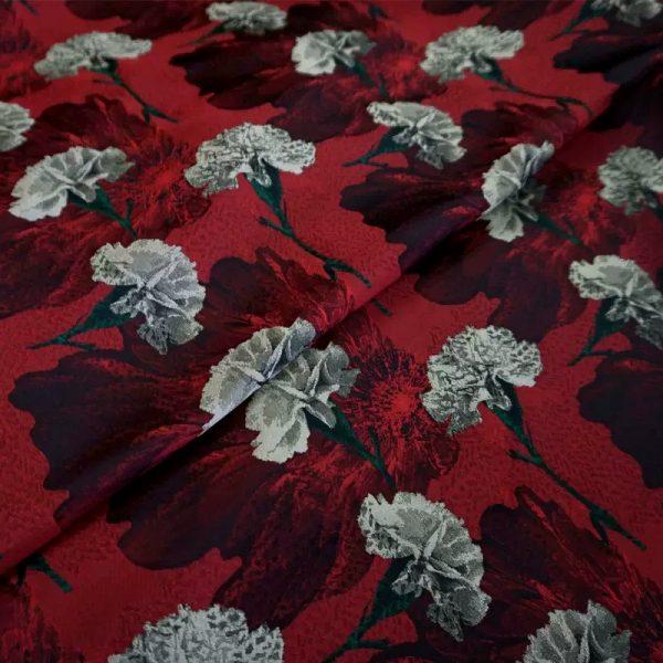 20200916 031108 Italian Designer Jacquard Fabric Carnation pattern Fashion week Jacquard 2021 9